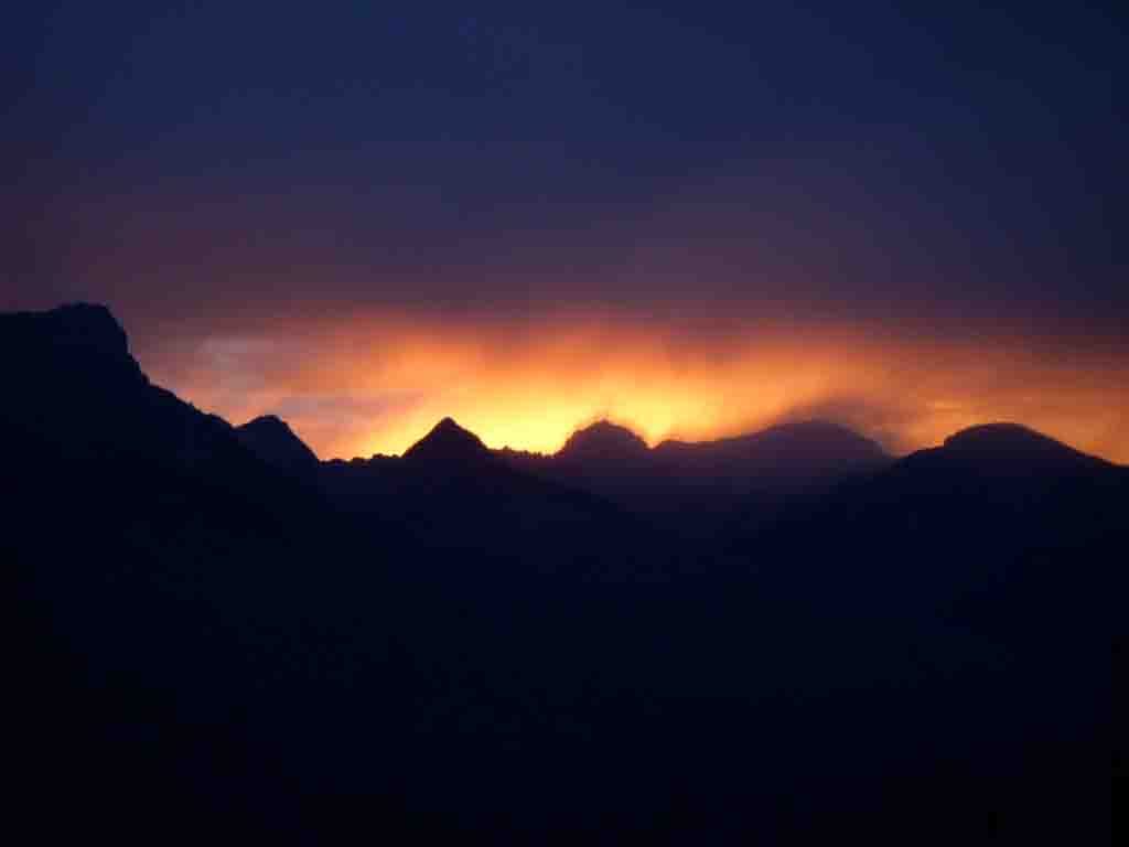 The sunset of fire in Glacier.