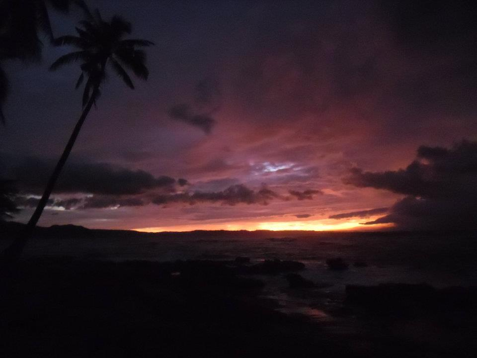The sunset on my 30th birthday. Pagupud, Philippines.