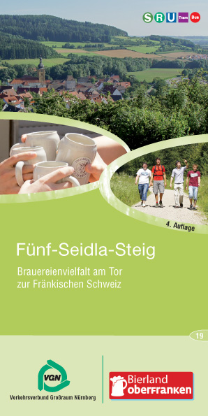 Tourist map for Funf Seidla Steig. Nature, Beer, and God. As it was intended to be.