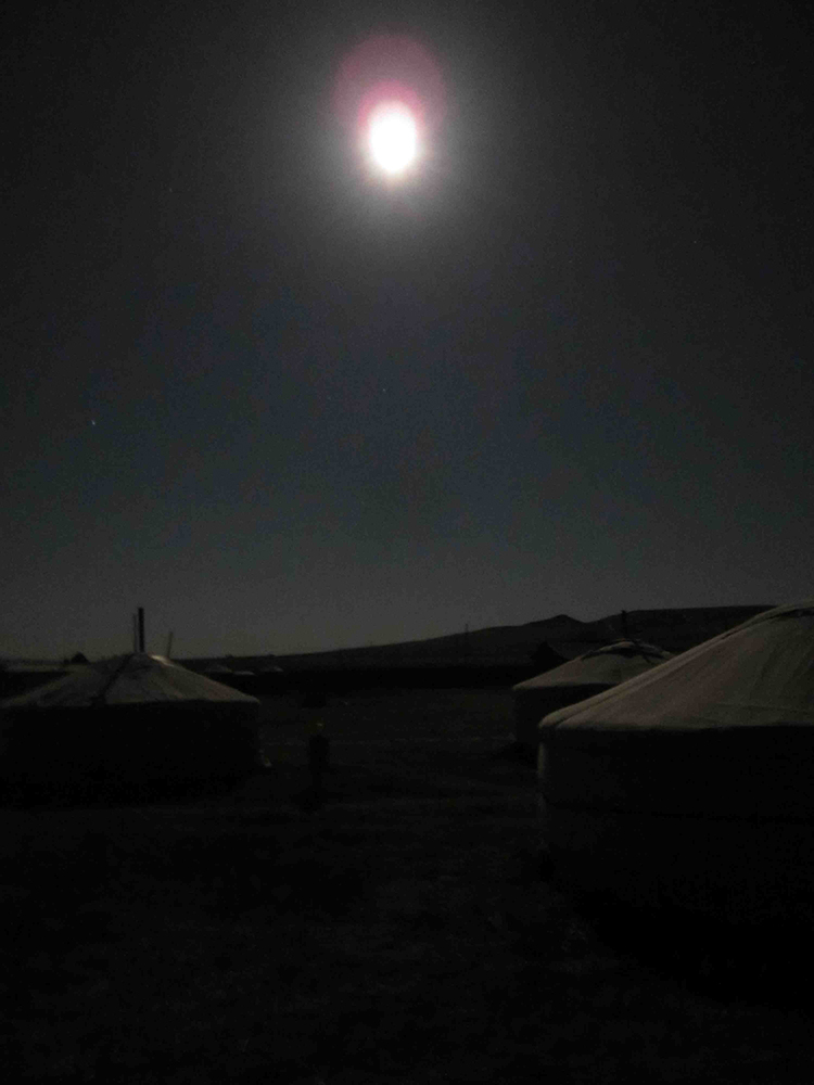 The Full Moon lighting up the roofs of the Gers pre-sandstorm.
