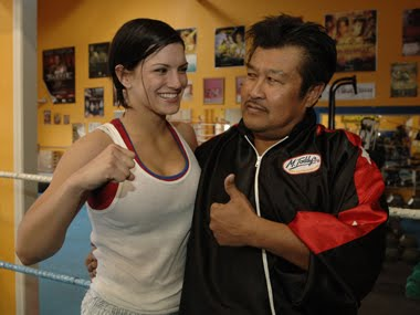 Master Toddy and Gina Carano.