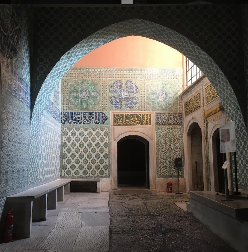 Hall of Sultan's Harem in Istanbul