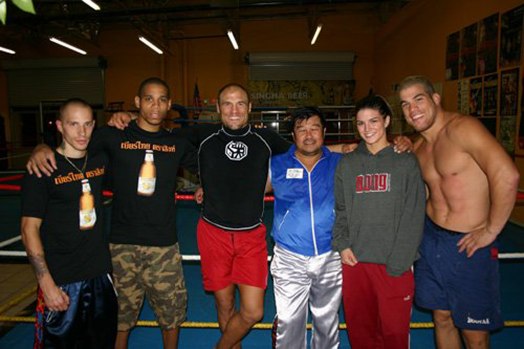 Some of Master Toddy's champions including UFC champs Randy Couture and Tito Ortiz.