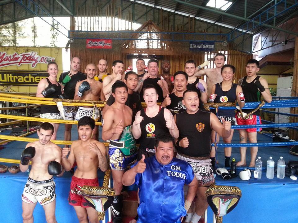 Master Toddy and his students at his gym.