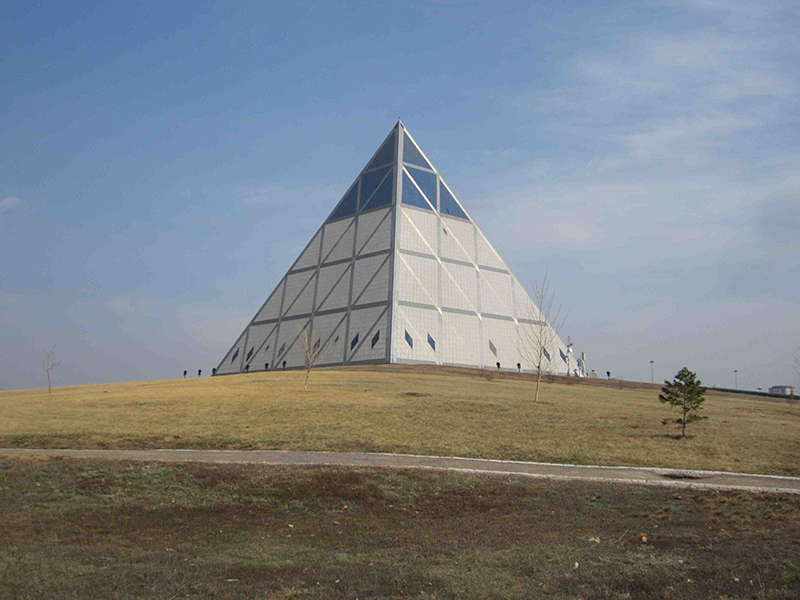 The groovy pyramid Palace of Peace and Harmony.