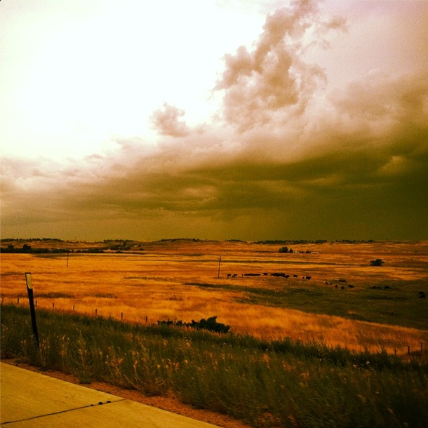 Racing a storm on the plains of Nebraska.