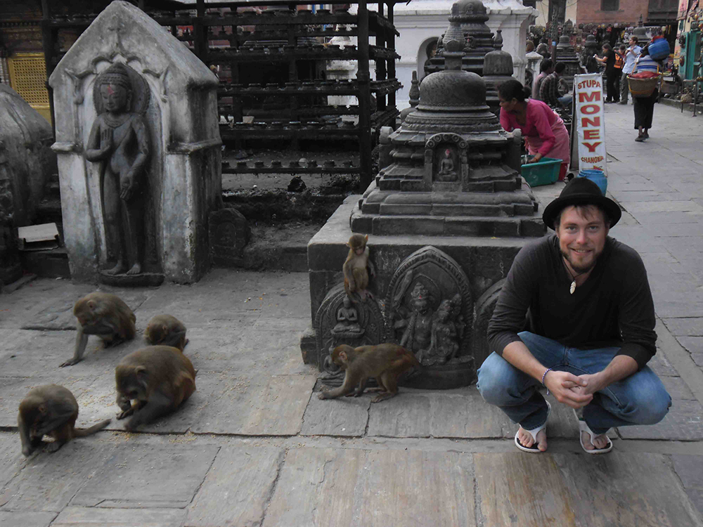 Hanging out with monkeys in Kathmandu is much cooler than sitting in a cubicle.