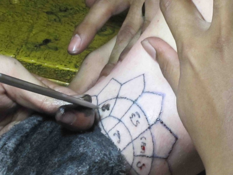 Beginning of my tattoo.