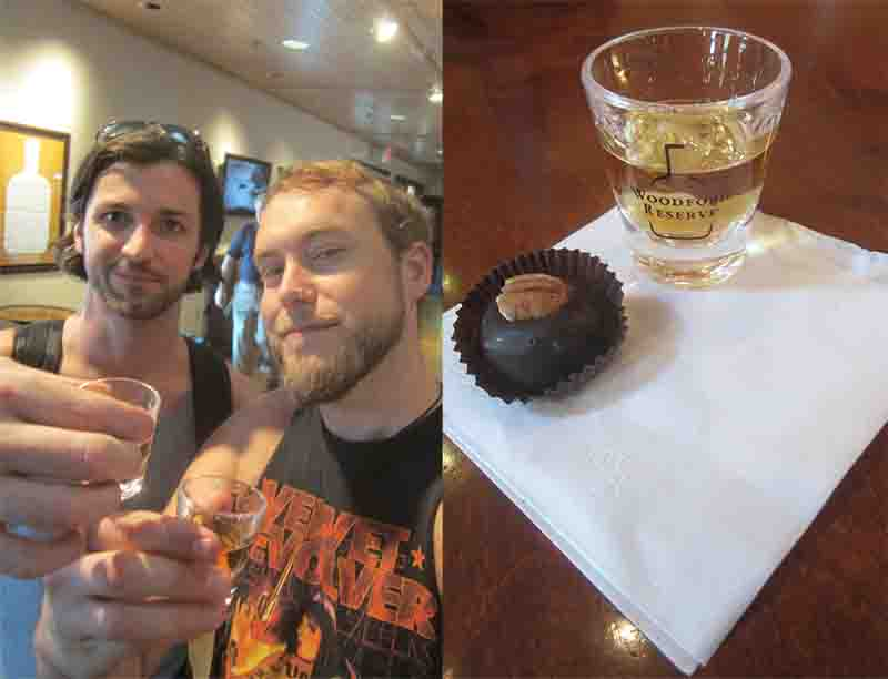 Shots and bourbon balls.